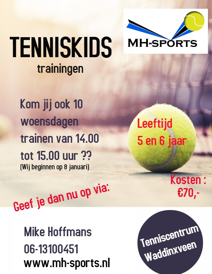 Copy of Tennis Classes Coaching Camp Flyer Poster - Gemaakt met PosterMyWall